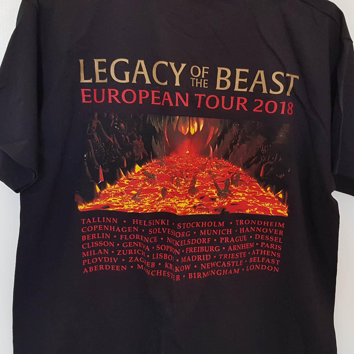 Iron Maiden 2018 Legacy Of The Beast Tour Tshirt Iron